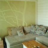 Rantalepän oksista malli seinäkuvioon - Anico Design